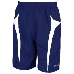 Spiro Micro-Team Sports Shorts för herrar 2XL Navy / White