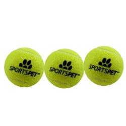 Sportspet Tennisboll (paket med 3) M Gul