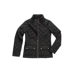 Stedman Active Quilted Jacket för damer / damer XL Svart Opal