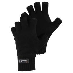 Stickade vintern Thinsulate Heatguard Fingerless Handskar M/L Sv
