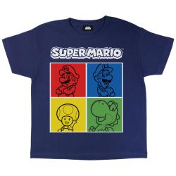 Super Mario Girls T-shirt T-shirt 7-8 år marinblå