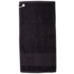 Towel City Printable Border Golf Handduk One Size Svart