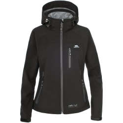 Trespass Dam / Bela Hooded Windproof Softshell Jacka XXS Svart