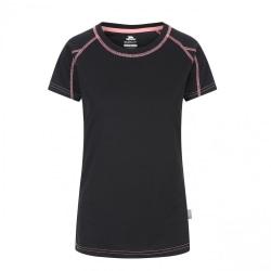 Trespass Dam- / dam-mamo kortärmad aktiv t-shirt XXS Svart / Neo