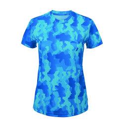Tri Dri Hexoflage Performance-kortärmad T-shirt dam / dam XL Cam