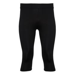 Tri Dri Kvinnor / Dam kalvlängd Fitness Leggings M Svart