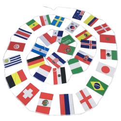 VM 2018 Bunting 32 flaggor 9.9 m Multi-Color