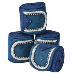Weatherbeeta Fleece Bling-bandage för hästar (uppsättning av 4)
