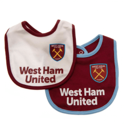 West Ham United FC Baby Haklappar (2-pack) One Size White / Purple White/Purple One Size