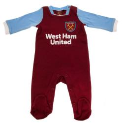 West Ham United FC Baby sovvakt 9-12 Months Rödvin / blå