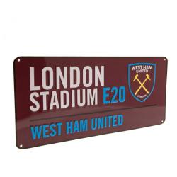 West Ham United FC Officiell gatuskylt One Size Rödvin