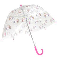 X-Brella Barns / barn Transparent Unicorn-tema-paraply