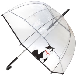 X-Brella Unisex vuxna 23in Transparent Cat Stick Paraply One Siz