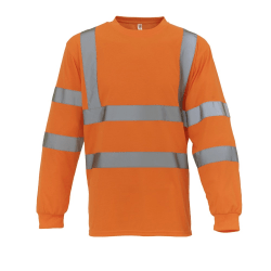 Yoko Herr Hi Vis Långärmad T-shirt L Hej Vis Orange