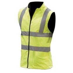 Yoko Herrarbetskläder Hi-Vis Reversible Fleece Vest / Jacket 2XL