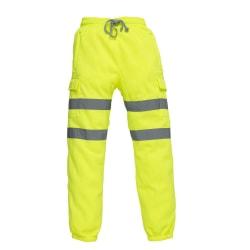 Yoko Vuxna Unisex Hi Vis Joggingbyxor S Hi-Vis Yellow
