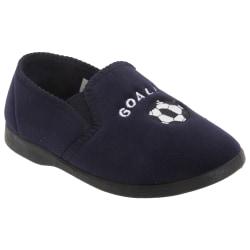 Zedzzz Barnpojkar Midfield Twin Gusset Football Slippers 2 UK Ma