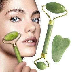 2st Jade Roller Face / Eye / Neck Facial Massage Natural Stone Care 2pcs sets