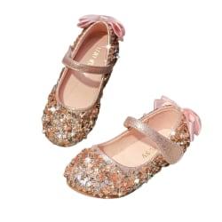 Flickor kristallhalkade ärtor skor PU mode ärtor skor pink 31