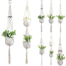 Hem- trädgårdsträdgårdväxt hängande dekoration för repkorgkorg NO.5 105cm (Style B)