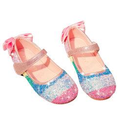 Paljett fest bröllop blomma flicka skor prinsessa dansskor pink 26