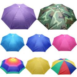 Solhatt / Fällbar UV-paraply _ Regn / Solparaply _ Kompakt purple
