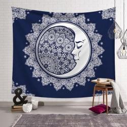 Sun Moon God Tarot Hippie Tapestry Mandala Wall Carpet E 200*150CM