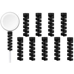 10-pack Spiral kabelskydd - Laddare Svart one size