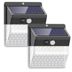 2-pack utomhusbelysning på solenergi Svart one size