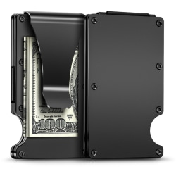 Aluminium korthållare RFID  Svart one size