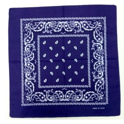 Bandana-scarf med klassiskt paisleymönster i polyester Ocean blå one size