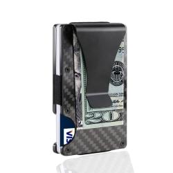 Carbon Fiber korthållare RFID Svart Svart one size