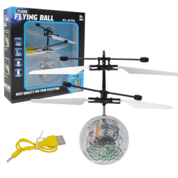 Flying Ball med LED-Ljus Kristall one size