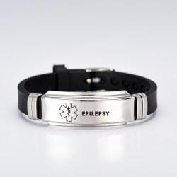 Medicinsk Varnings-ID Armband Black one size