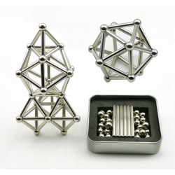 Neodomine magnet package - 63 parts Silver