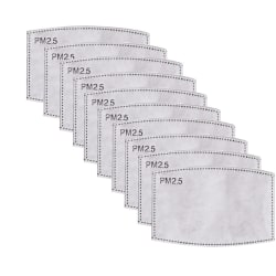 PM2.5-maskfilterinsats - 100 Pack White one size