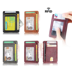 Supertunn RFID Plånbok - 7 kortplatser + sedelficka Svart one size