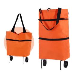Shopping väska med hjul Orange one size