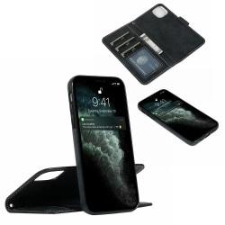 Suede magnetfodral för iPhone 11 med magnetlås. Svart one size