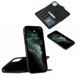Suede magnetfodral för iPhone 12/12 Pro med magnetlås. Svart one size