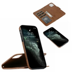 Suede magnetfodral för iPhone 12 Mini med magnetlås. Brun one size
