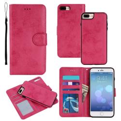 Suede magnetfodral för iPhone 6+/6s+ med magnetlås. Rosa one size