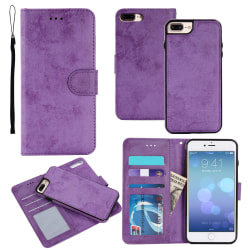 Suede Magnetfodral till iPhone 7/8 Lila