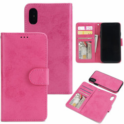 Suede magnetfodral för iPhone XS Max med magnetlås. Rosa one size