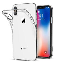 Transparent TPU skal +2st skärmskydd till iPhone XS Max Transparent