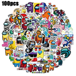 100 Pcs Among Us Game Stickers Pack Laptop Phone Decals Set