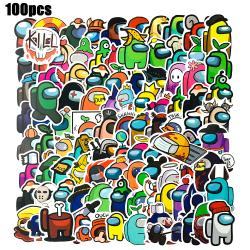 100x Among Us Game Removable Waterproof Graffiti Sticker Decal