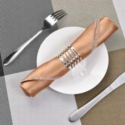 12pcs Serviette Napkin Rings Dinner Towel Party Table Decor silver