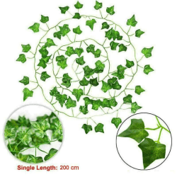 24pcs Wall Hanging Plants Fake Leaf Home Indoor Outdoor Decor 24PCS