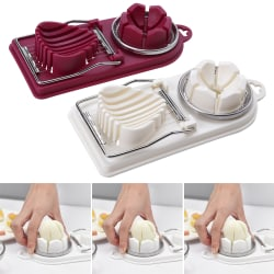 2 in 1 Boiled Egg Slicer Cutter Mushroom Tomato Kitchen Chopper White